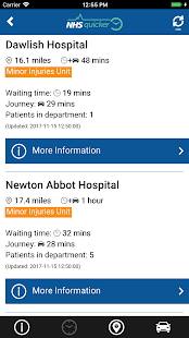 NHSquicker:  live wait times for Devon & Cornwall- screenshot thumbnail