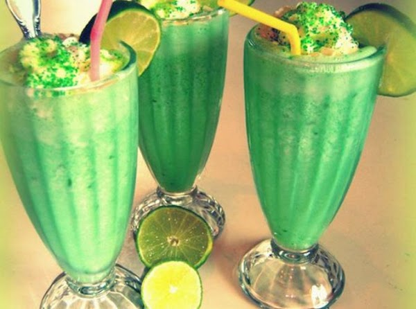 Grace's  Easter Lime Milk Shake Recipe