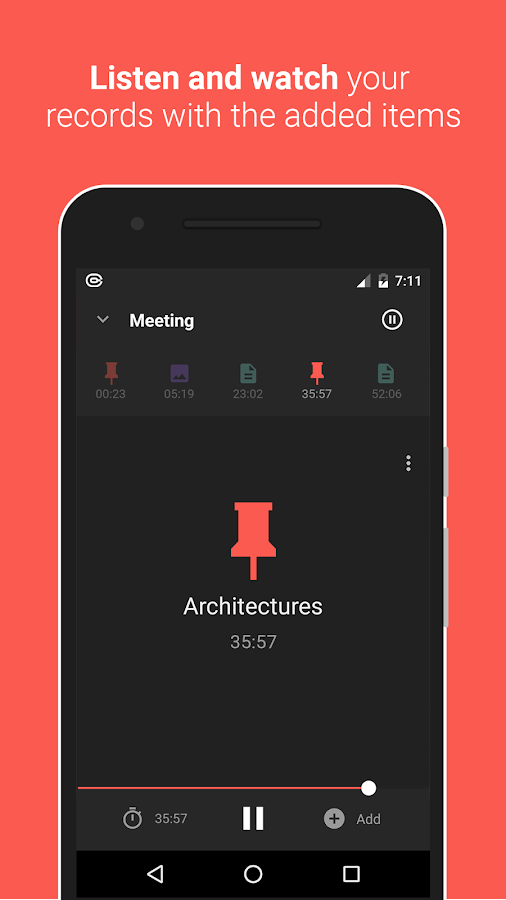 Canomapp - Voice recorder with Pictures and Notes- screenshot