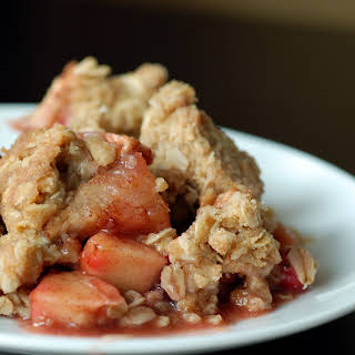 Apple Cranberry Oat Crumble.