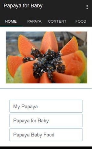 android Papaya for Baby Screenshot 0