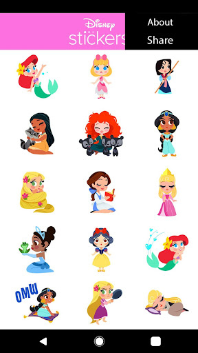 Disney Stickers: Princess app for Android screenshot