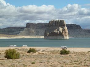 Photo: Camping ground au bord du Lake Powell