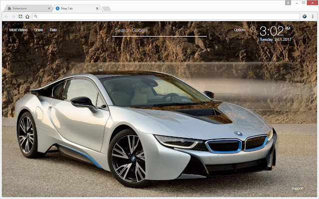 Bmw cars wallpapers hd new tab themes chrome web store voltagebd Gallery
