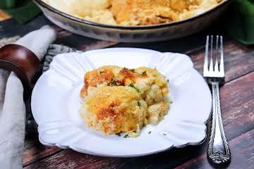 Cauliflower and Cheddar Gratin