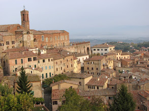 Photo: A part of the view from our hotel window in Montepulciano
