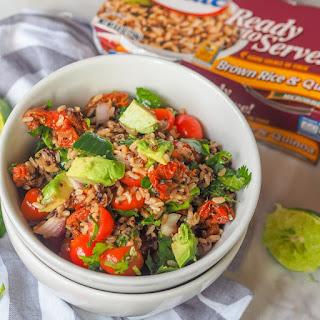 Guacamole Salad with Brown Rice & Quinoa {GF, Vegan}.