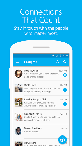 GroupMe screenshot 1