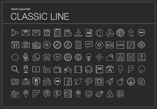 Classic Line Atom Iconpack