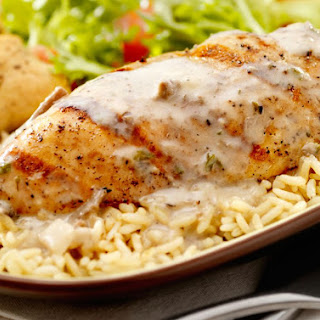 Easy Chicken and Rice Casserole with Italian Dressing.