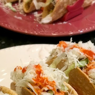 Lamb Picadillo Tacos.
