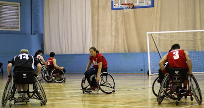 Photo: Photo taken during match between CELTS 1 and Blackhawks on 23 November 2014 at Talybont Sports Centre, Cardiff Uni
