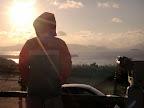 初日の出を背負う長男くんのイメージ