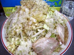 らーめん(野菜まし、にんにく)+玉ねぎの画像