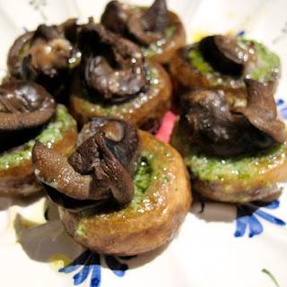 Escargot Stuffed Mushrooms.