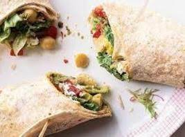 Tapenade and tomato wrap