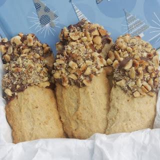 Hazelnut Shortbread Stick Cookies.