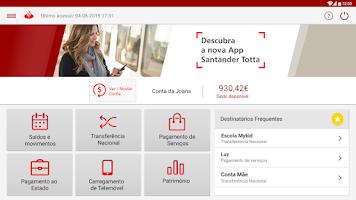 Screenshot of Santander Totta