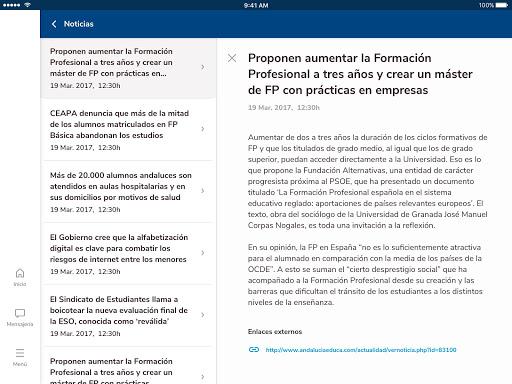 Versión de Séneca para smartphone y tabletas. screenshot 16