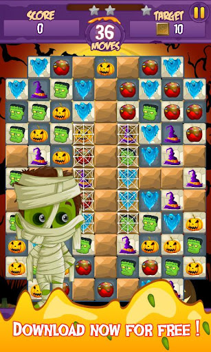 Halloween Smash 2020 - Witch Candy Match 3 Puzzle apkmr screenshots 6