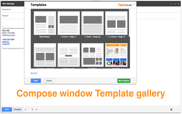 Email templates for Gmail Chrome Web Store