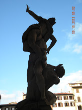 Photo: Rear view of Giambologna's The Rape of the Sabine Women