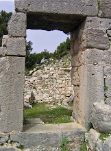 Photo: Arykanda, Entrance to the Roman Baths .......... Ingang Romeinse Thermen