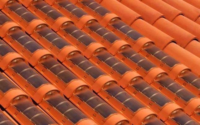 Tejas solares fotovoltaicas - tejas de plastico imitación arcilla