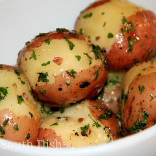 Butter Steamed New Potatoes.