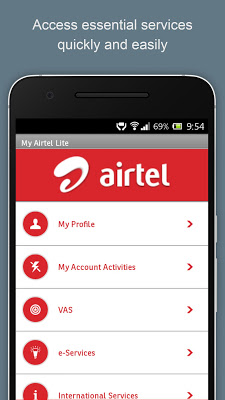 My Airtel Lite - screenshot