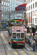 Photo: Day 195 - Double-Decker Tram on Queensway on HK Island (Hong Kong)