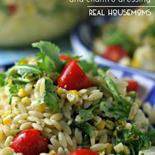 Orzo Salad with Grilled Corn and Cilantro Dressing