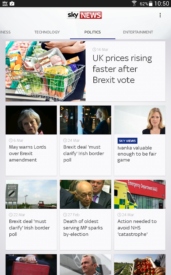 Sky News- screenshot