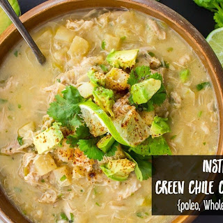 Instant Pot Green Chile Chicken Chowder.