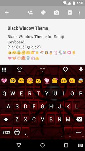 Black Widow Emoji Keyboard