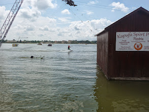Photo: Wake board, water ski on Lake Velence, 150m from wheelchair adapted holiday home in Velence, Hungary.