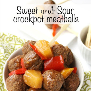 Sweet and Sour Crockpot Meatballs.