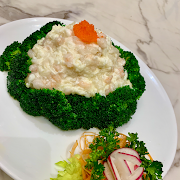 E18. Scramble Eggs with Shrimps and Chives 韮王滑蛋蝦仁