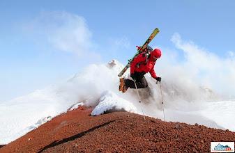 Photo: Happy Matus jumping up - summit of volcano Avachinsky