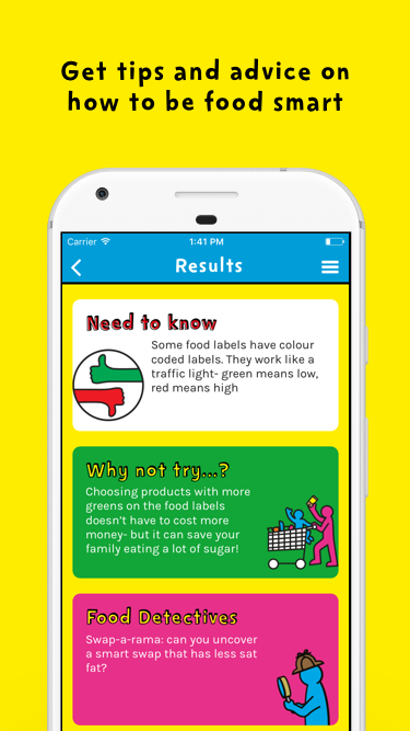 Change4Life Be Food Smart- screenshot