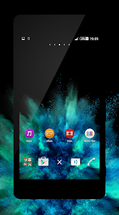xBlack - Teal Theme for Xperia Screenshot