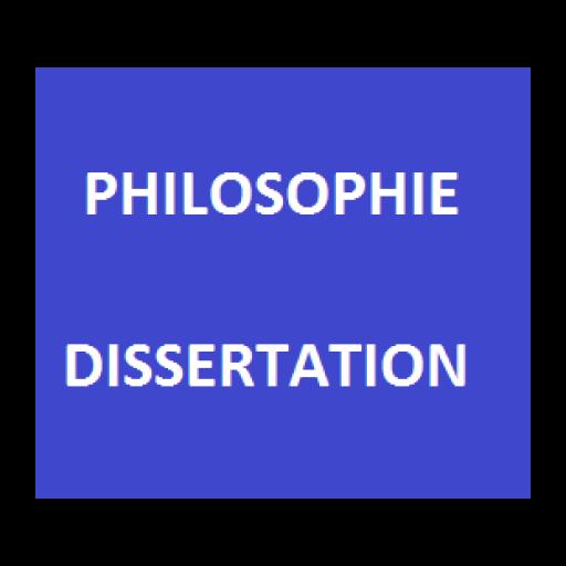 Philosophie - Dissertation