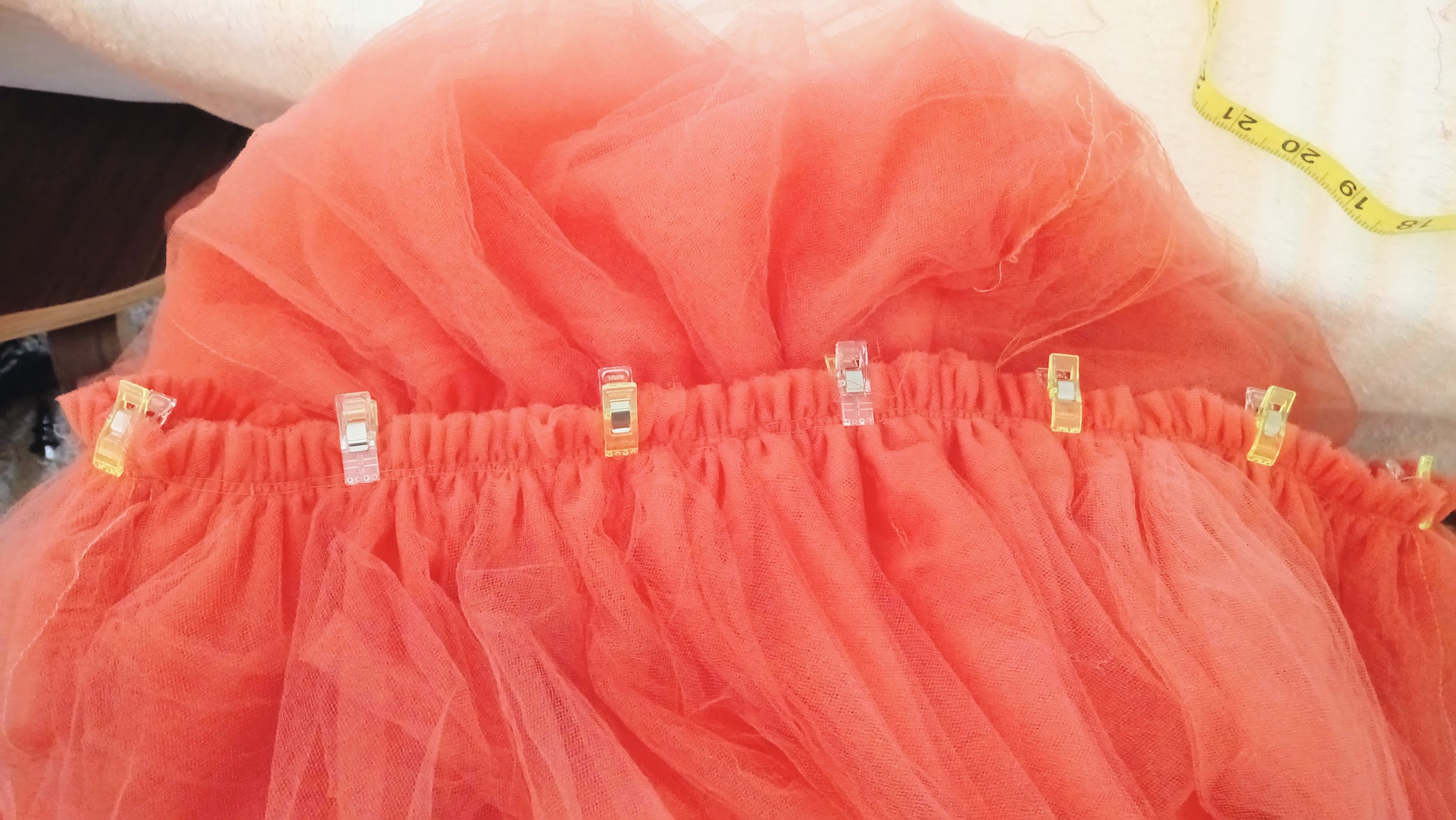 Tulle Layers In-Progress: Bubblegum Dreaming Cage Dress - DIY Fashion Garment | fafafoom.com