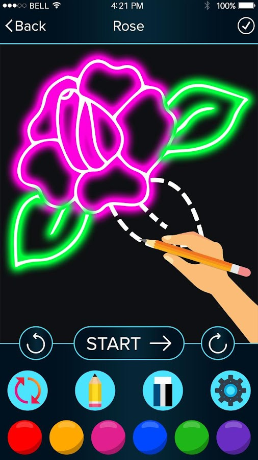 How to Draw Glow Flower- screenshot