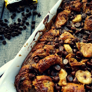 Chocolate Bananas Foster Bread Pudding