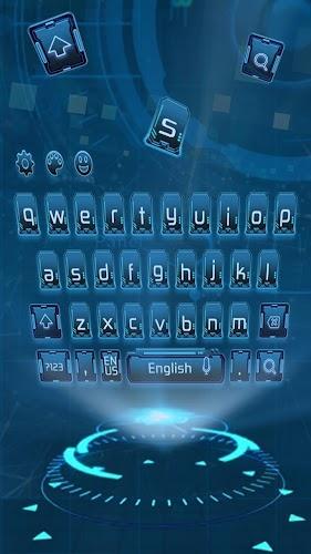Download hacker geek keyboard computer dark blue net APK