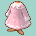 スイートピンクなファーコート