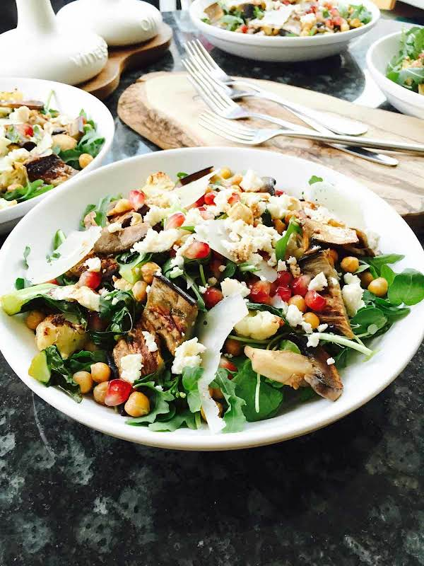 Cauliflower, Aubergine And Chickpeas Salad Recipe