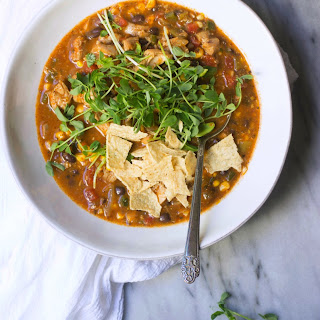 Chicken, Poblano & Roasted Sweet Corn Soup Recipe