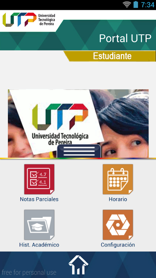 UTP Móvil- screenshot